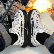 Sneakers Women's Sports Shoes Platform Kawaii Graffiti Casual Summer Vintage College Student Vulcanize Spring 2021