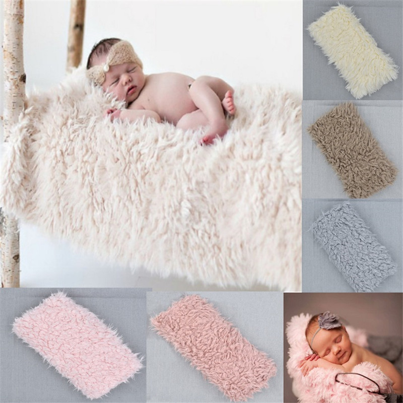 Newborn Photography Props Blanket Faux Fur Photograph Prop Blanket Photo Backdrop  Accessories