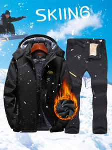 Ski-Suit Jacket Snowboarding-Sets Winter Pants Skiing Waterproof New Men for And Warm