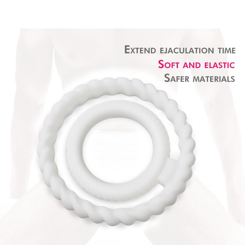 Penis Ring CockRing Delay Ejaculation Penis Enlargement Strap-on Pleasure Double CockRing For Men Adult Sex Toys
