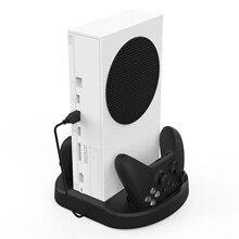 Soporte Vertical para Xbox Series S, cargador doble para mandos, Enfriador de base, soporte de carga rápida