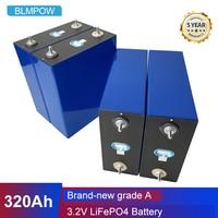 Nuovo 4 pz 3.2V 100Ah 130Ah 200Ah 280Ah 300Ah 320Ah LiFePO4 batteria fai da te 12V 24V auto elettrica Inverter solare batteria esente da tasse