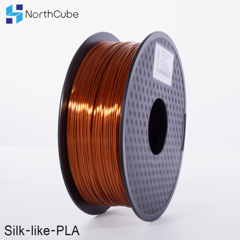 NorthCube 3D Printing Silk PLA Filament 3D Printer Filament 1.75mm 1KG Silk Like Series silk copper Color Filament
