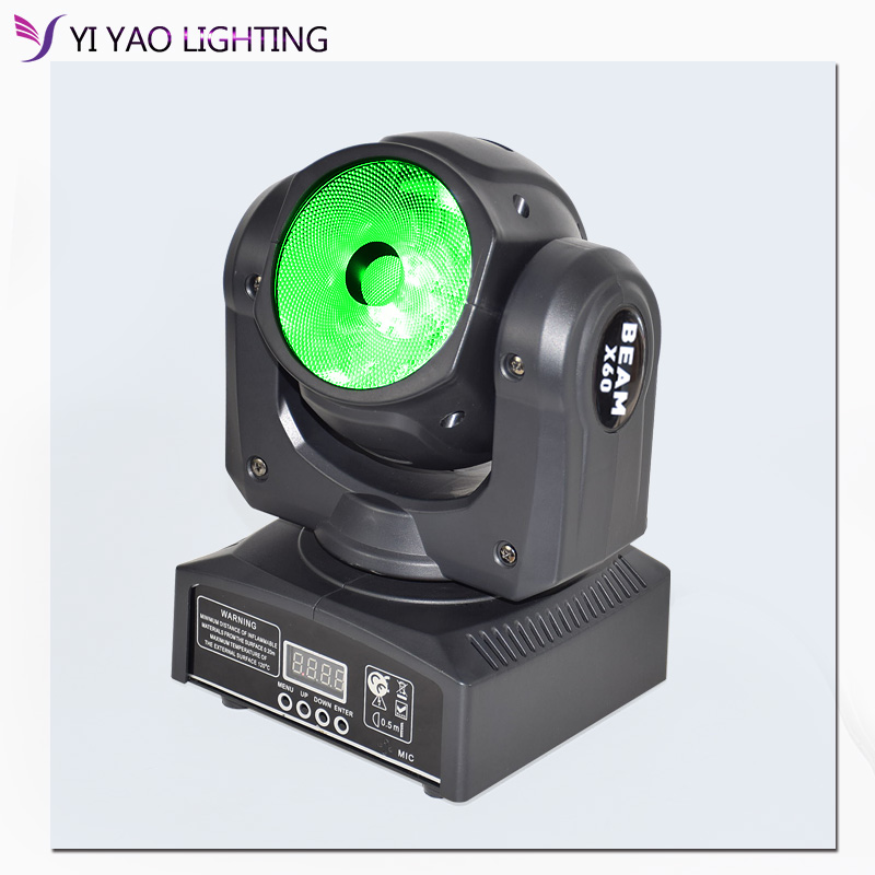 60w RGBW 4in1 Led Beam Light DMX512 Led Display Moving Head Light Professional DJ Bar Party Show Stage Light Led Stage Machine