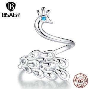 Peacock Rings BISAER 925 Sterling Silver