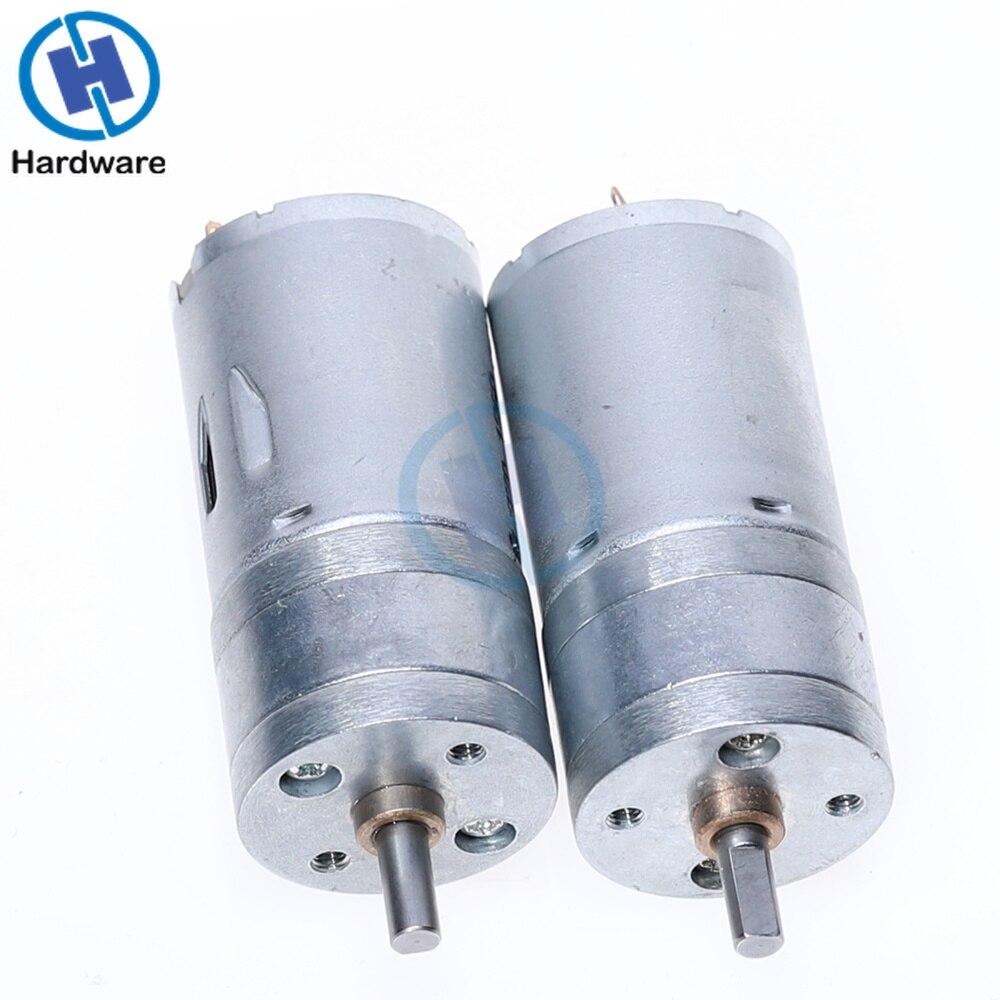 JGA25-370 двигатель постоянного тока мотор-редуктор 6 в 12 В 24 в высокий крутящий момент электродвигатель 12 об/мин/25 об/мин/36 об/мин/60 об/мин/130 об/ми...