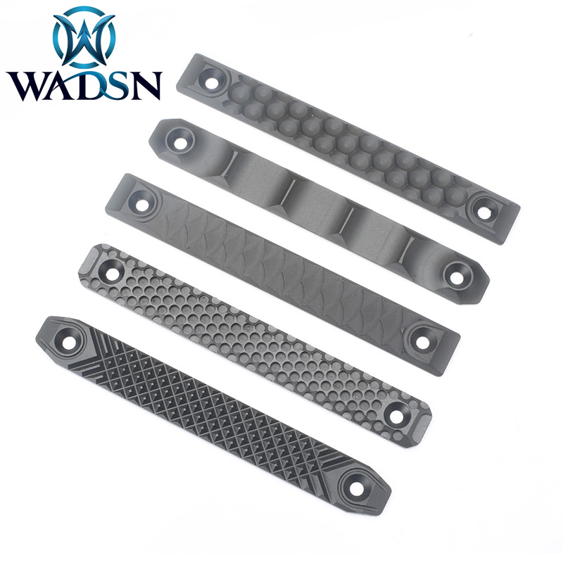WADSN Airsoft RS CNC Handguard Rail Cover For M-lok And Keymod Long Railscales Style ME08002 Hunting Weapon 2pcs/pack