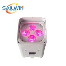 Sailwin сценический светильник ing 4 светодиодный s 18 Вт 6в1 RGBAW UV мобильное приложение wifi светодиодный аккумулятор беспроводной аплайт сценический светильник для свадьбы