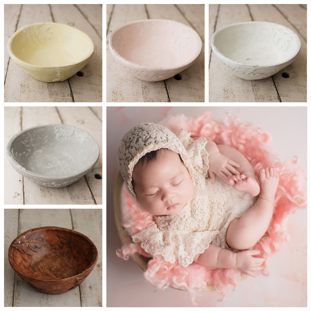 2019 résine bol posant paniers pour bébé Photo Shoot accessoires nouveau-né photographie accessoires Photoshoot remplissage panier Fotografia