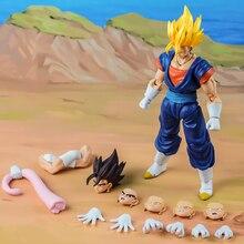 Tronzo Demoniacal Fit Dragon Ball Super SSJ Vegetto SHF Action Figure DBZ Vegito Vegetto Blue Hair Figuine Model Doll Toys Gift