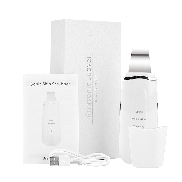 New Ultrasonic Ion Skin Scrubber Remove Dirt Blackhead Reduce Wrinkles and Spots Deep Face Cleaning Machine Beauty Tools