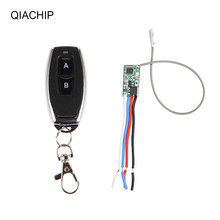 QIACHIP 433MHz Wireless Remote Control Switch RF Relay Receiver Module DC 12V + 433 MHz RF Transmitter For LED Light Controller(China)