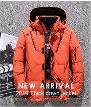 2019 Winter Mens Down Parka Jacket Coat,  Male Short Thick Windproof Hooded Green Black Blue Gray Orange M-3XL