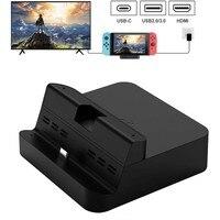 Портативная док-станция для nintendo Switch, док-станция GuliKit с USB-C зарядка PD Stand, HDMI адаптер и USB 3,0 порт черный