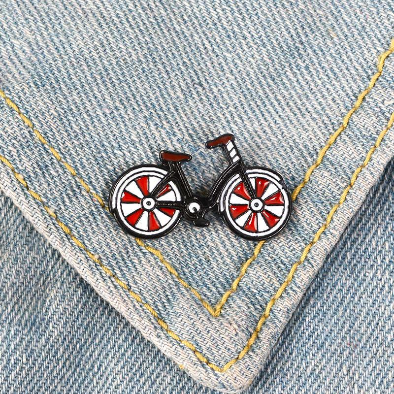 Милые Металлические Булавки с отворотом для велосипеда, рекламные экологически спортивные броши, значки, рюкзак, аксессуары, шпильки, ювелирный подарок для друзей
