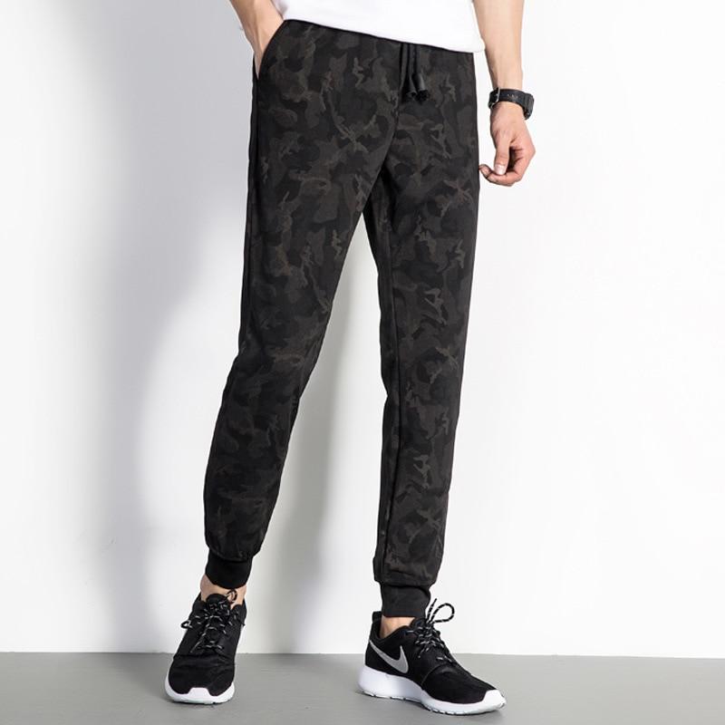 2018 Men Capri Skinny Pants Camouflage Printed Harem Large Size Athletic Pants