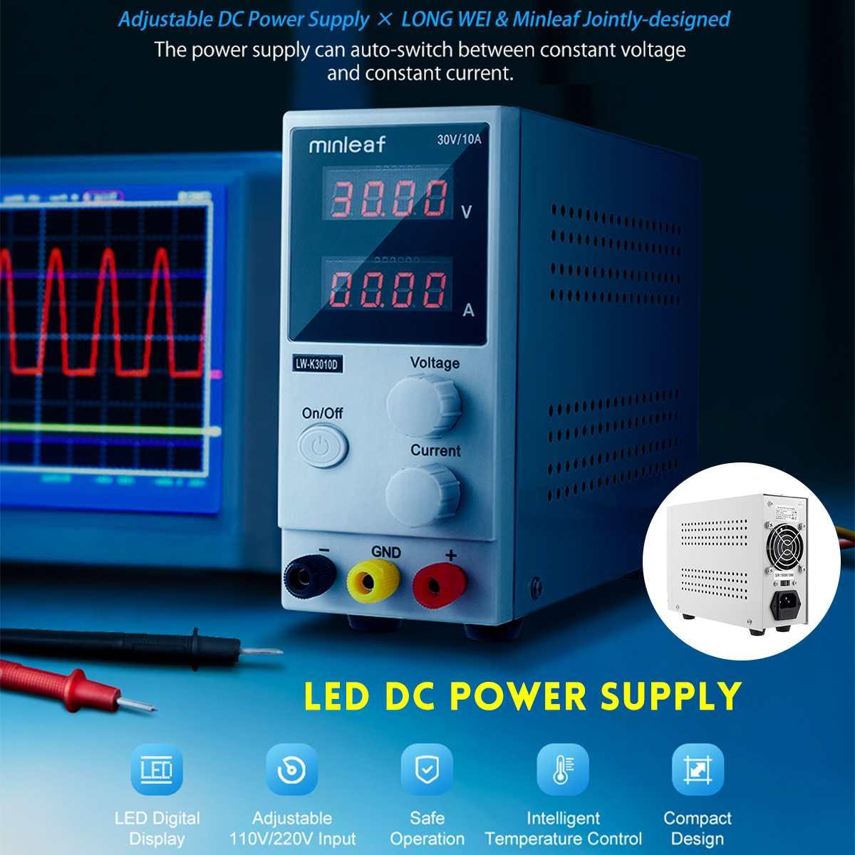Mini Adjustable LED Display DC Power Supply 30V 10A Laboratory Switching Regulator Power Supply Laptop Phone Repair Rework Tools