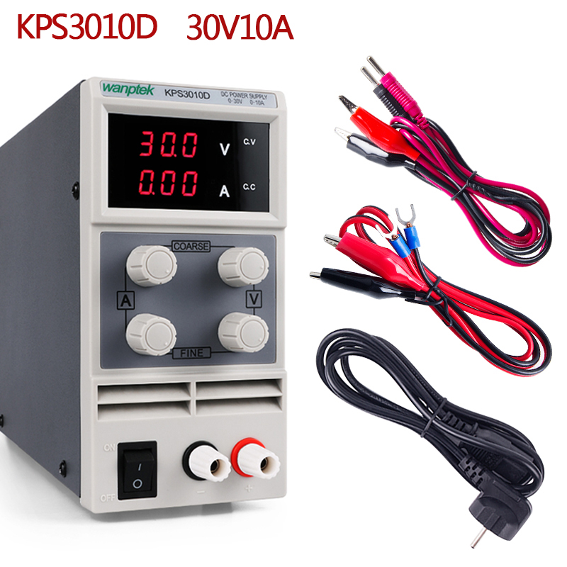 30 V 10A DC Lab Power Supply Unit LED Display Adjustable Switch Laptop Repair Rework Power