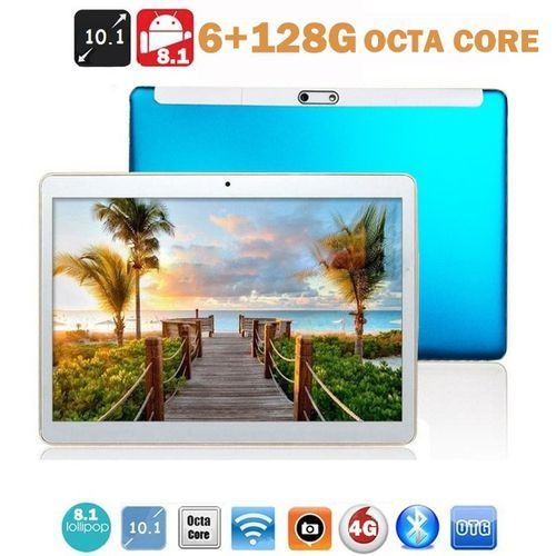 2021 New 10 Inch Tablet PC Android 9.0 6G + 128G Wifi Tablet PC 4G Mobile Phone Call Dual SIM Dual Standby WiFi Bluetooth 6