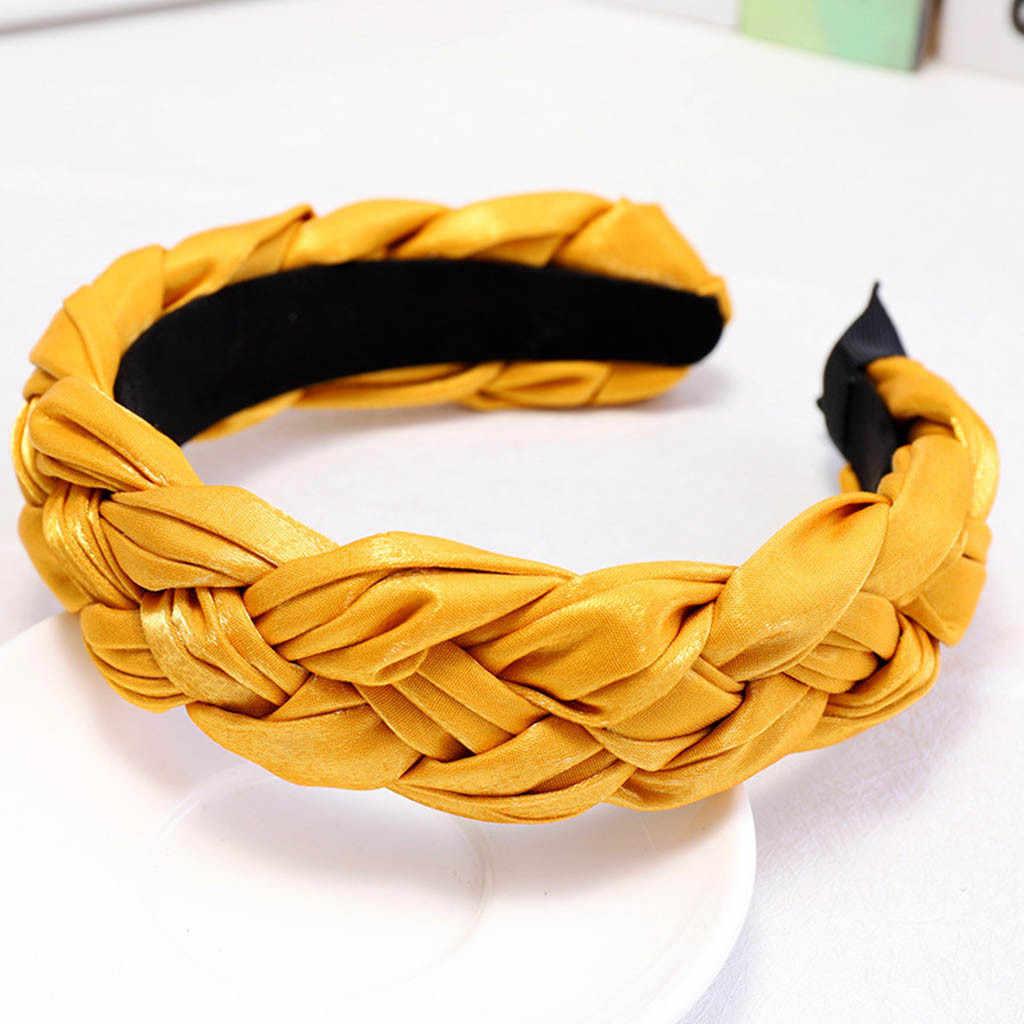 Аксессуары для волос Женская повязка на голову однотонная повязка для волос бант галстук бархатный широкополый головной убор повязка для волос аксессуары Mujer Haarband