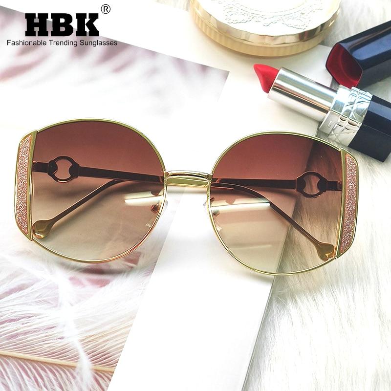 2020 Women's Luxury Sunglasses Women Oversized Round Sun Glasses Italy Fashion Gravel Rhinestone Female Eyewear Shades UV400 New