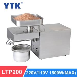Image 1 - YTK 1500W Automatische Ölpresse Haushalt Leinsamen Öl Extractor Erdnussöl Presse Kalte Presse Öl Maschine