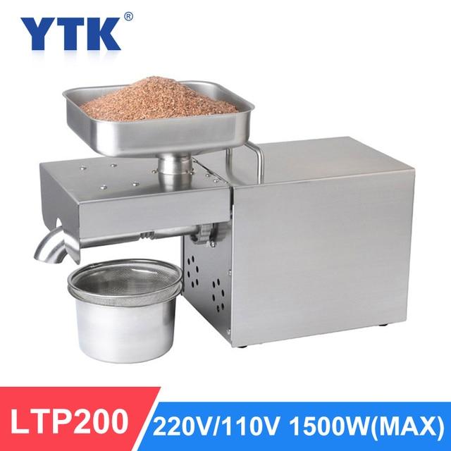YTK 1500W Automatische Ölpresse Haushalt Leinsamen Öl Extractor Erdnussöl Presse Kalte Presse Öl Maschine