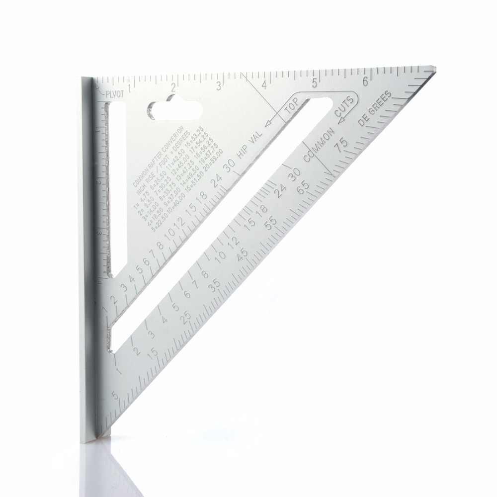 Треугольная линейка по дереву T, треугольная линейка r, не треугольная линейка, Угол Уплотнения 90 градусов, алюминиевый сплав, плотник, измерительная квадратная линейка
