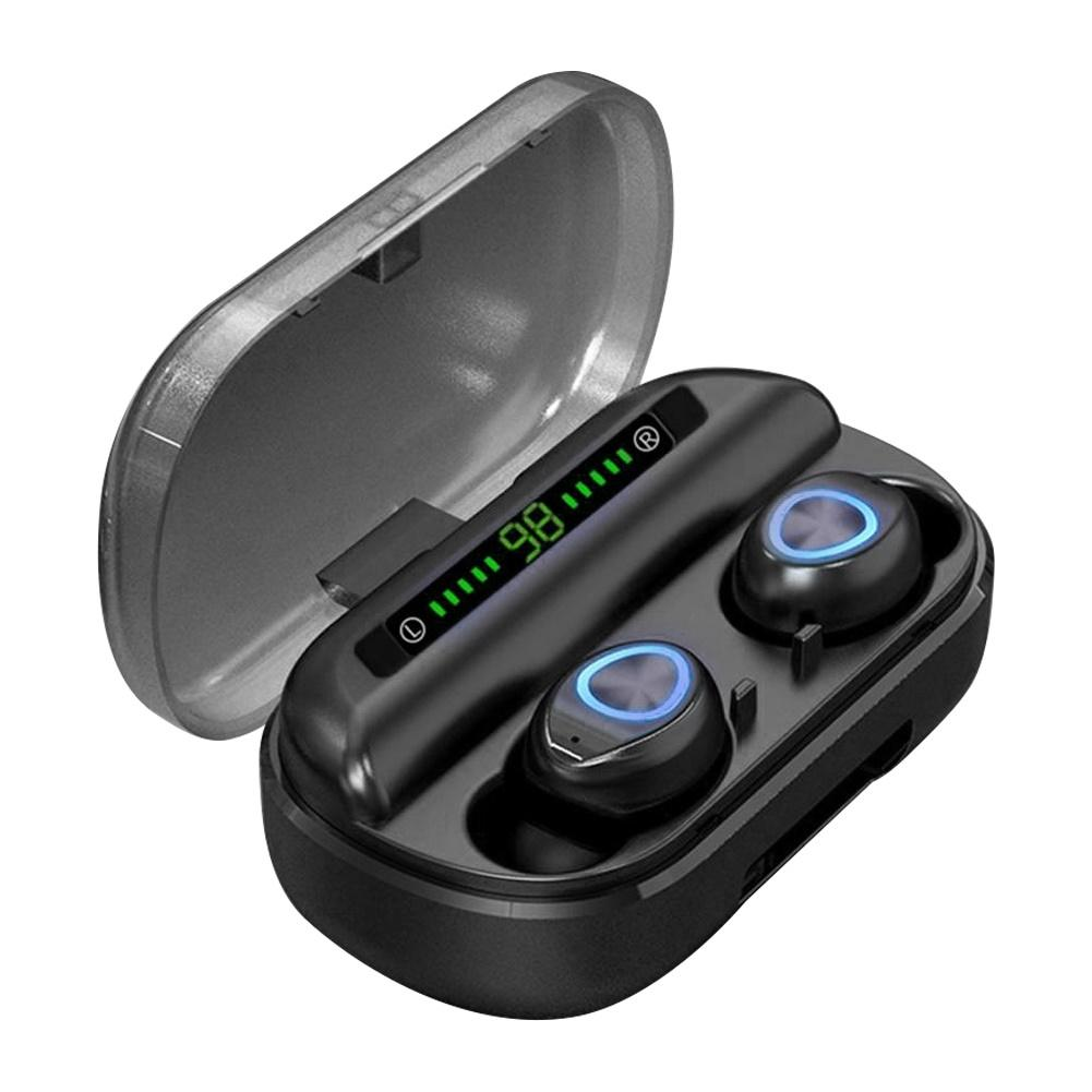 TWS Bluetooth наушники с микрофоном светодиодный дисплей беспроводные Bluetooth наушники водонепроницаемые шумоподавление гарнитуры