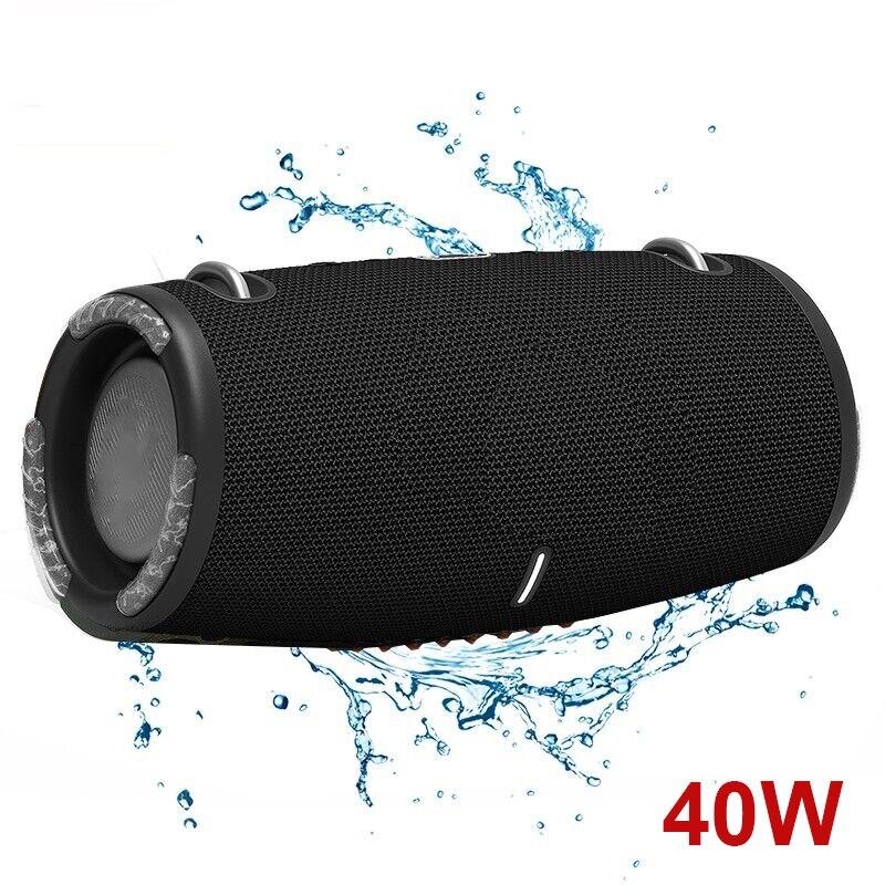 Altavoz Subwoofer con Bluetooth, reproductor de música inalámbrico portátil para exteriores, resistente al agua, 40W