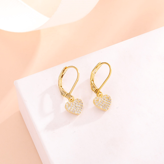 Women Drop Earrings Full Cubic Zirconia Delicate Girls Party Dangle Earrings Shiny Fashion Jewelry 4