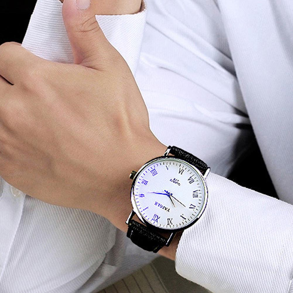 Business Couple Watch Waterpoof Faux Leather Pointer Fashion Men Women Quartz Wrist Watch Lover's Watches Gifts Zegarek Damski