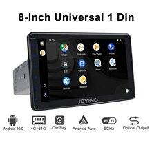 """Radio samochodowe 1 din uniwersalny 8 """"IPS 1280*720 4GB RAM + 64GB ROM stereo autoradio GPS mapa WIFI Bluetooth z odtwarzaczem wideo Carplay/4G"""