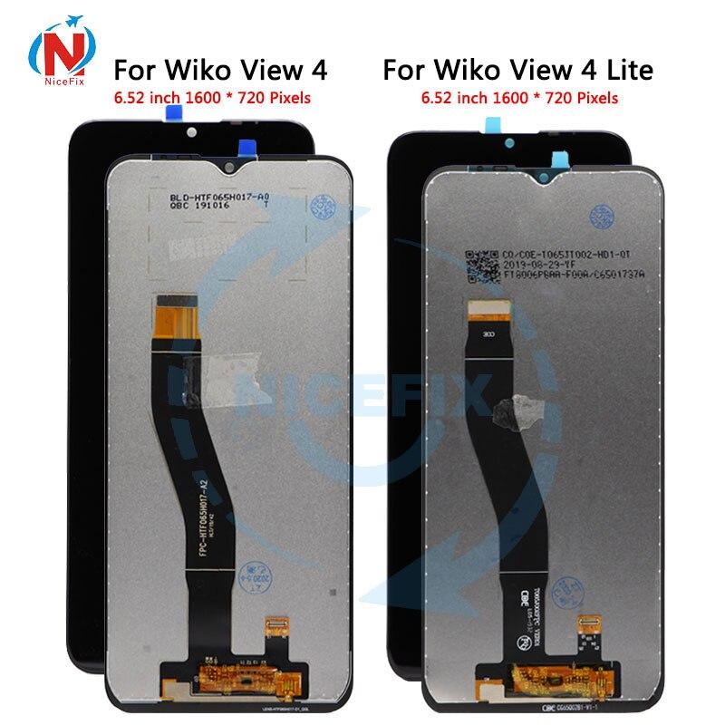 Original testado lcd para wiko vista 4 lite lcd com tela de toque digitador display para view4 vista 4 tela lcd