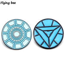 Flyingbee Iron man nuclear reactor Brooch and Pin Cool Enamel Pins Badges Lapel Pin Brooches Hat Jacket Pin for Women Men X0445 weston stacey m nuclear reactor physics