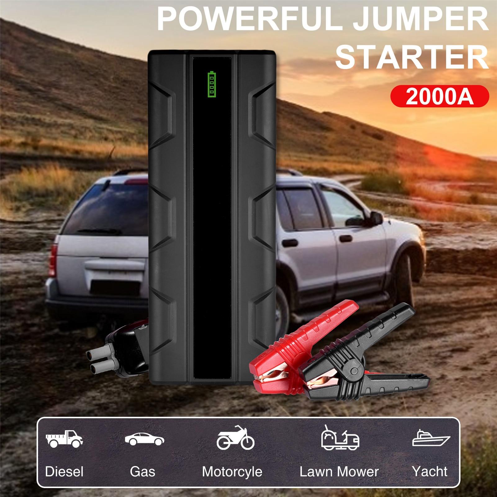 Jump Starter 1500 Peak 12800mAh Emergency Start Power Car Battery Charging Treasure Car With Ignition Electrical Save Artifact