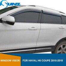 цена на Side window deflectors For Haval H6 COUPE 2015 2016 2017 2018 Car window rain protector Window Visor Vent Shades Guard SUNZ