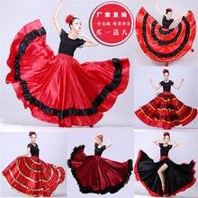 Женское фламенко платье Испанские костюмы Фламенго танцор одежда Леди Бальные танцы платья Одежда для танцоров для выступлений SL1442
