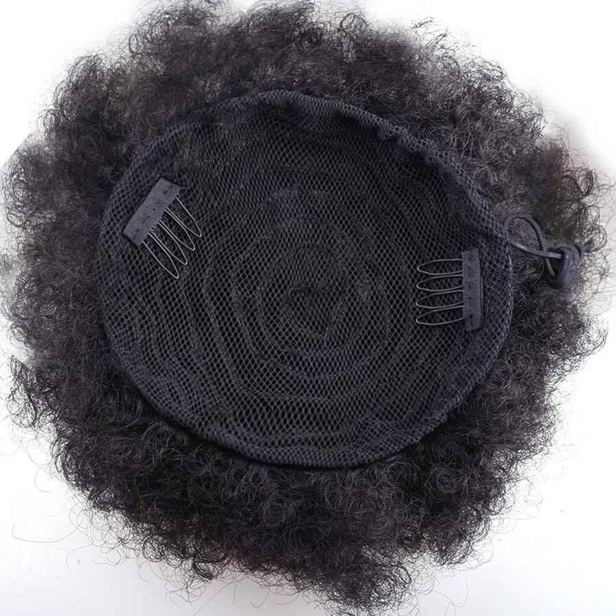 Clothobeauty 1Pcs Afro Rambut Keriting Bun, tali Rambut Band Elastis Updo Berantakan Ekstensi Rambut Ikal Bergelombang Donat Sanggul Palsu Ekor Kuda