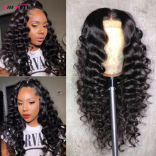 Brazilian Loose Deep Wave Lace Front Human Hair Wigs For Black Women Pre Plucked 13x6x1 Lace Frontal Wig 180% 4x4 Closure Wig