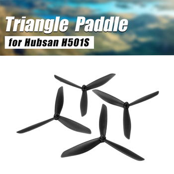 2Pair Upgraded Triangle High Speed Paddle CW/CCW Propellers for Hubsan H501S X4 Blades Quadcopter RC Drone Spare Parts gps moudle for hubsan x4 h502s h502e rc quadcopter