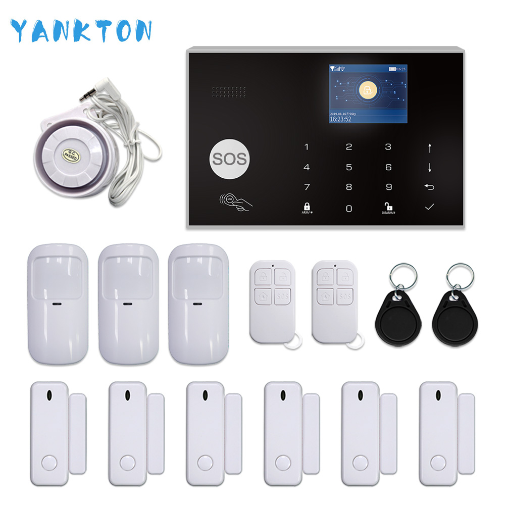Tuya GSM 3G 4G WIFI Home Security Burglar Alarm System Wireless 433MHz 11 Languages Support Android&iOS APP Remote Control