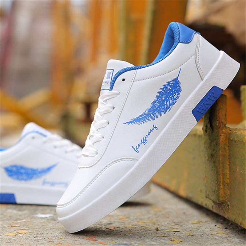 2020 Men Casual Shoes Breathable Male Tenis Masculino Feather Print Shoes Zapatos Hombre Sapatos Outdoor Flats Shoes Sneakers