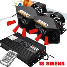 Uniwersalny 400w 18 Tone Sound Car Truck syrena alarmowa Horn Auto wzmacniacz głośnik pojazdu Polices pożary pogotowia głośny klakson