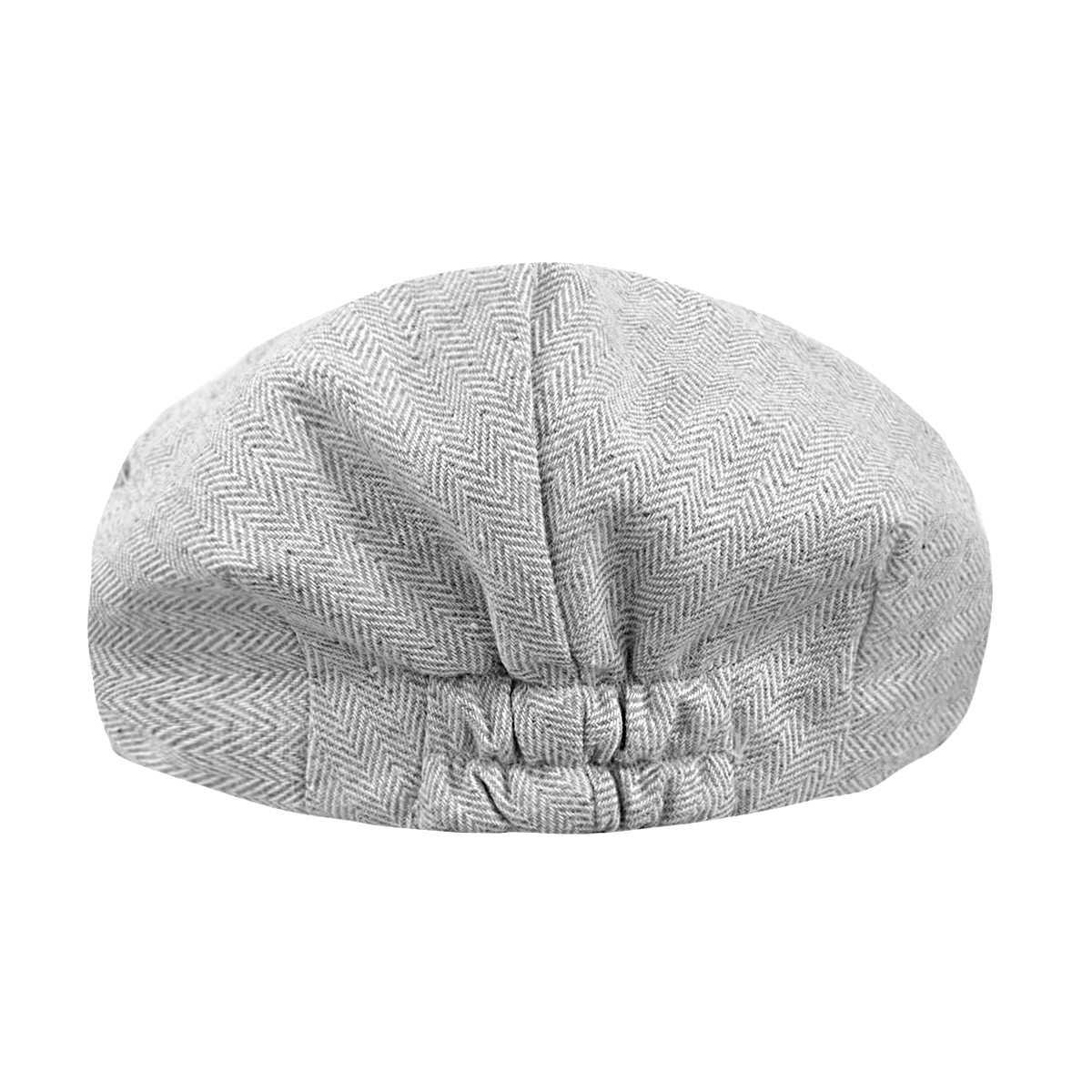 เด็กชาย Herringbone แบนหมวกเด็ก Vintage ไดรเวอร์หมวกเด็กวัยหัดเดินนุ่มซับหมวกหนาฤดูหนาว Warm อุปกรณ์เสริม