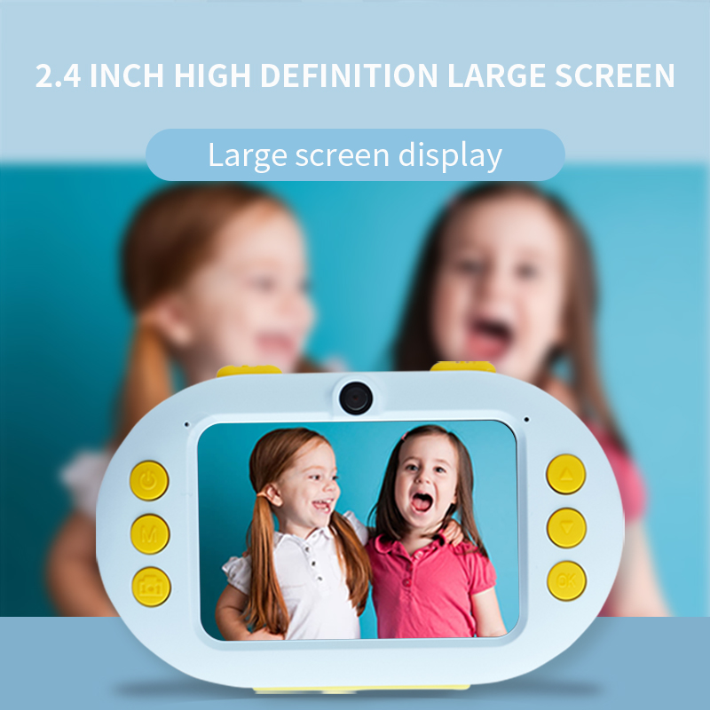 Landzo Hot Waterproof Digital Camera For Kids With SD Card,Shockproof And Front And Rear Selfie Camera Children Educational Toys