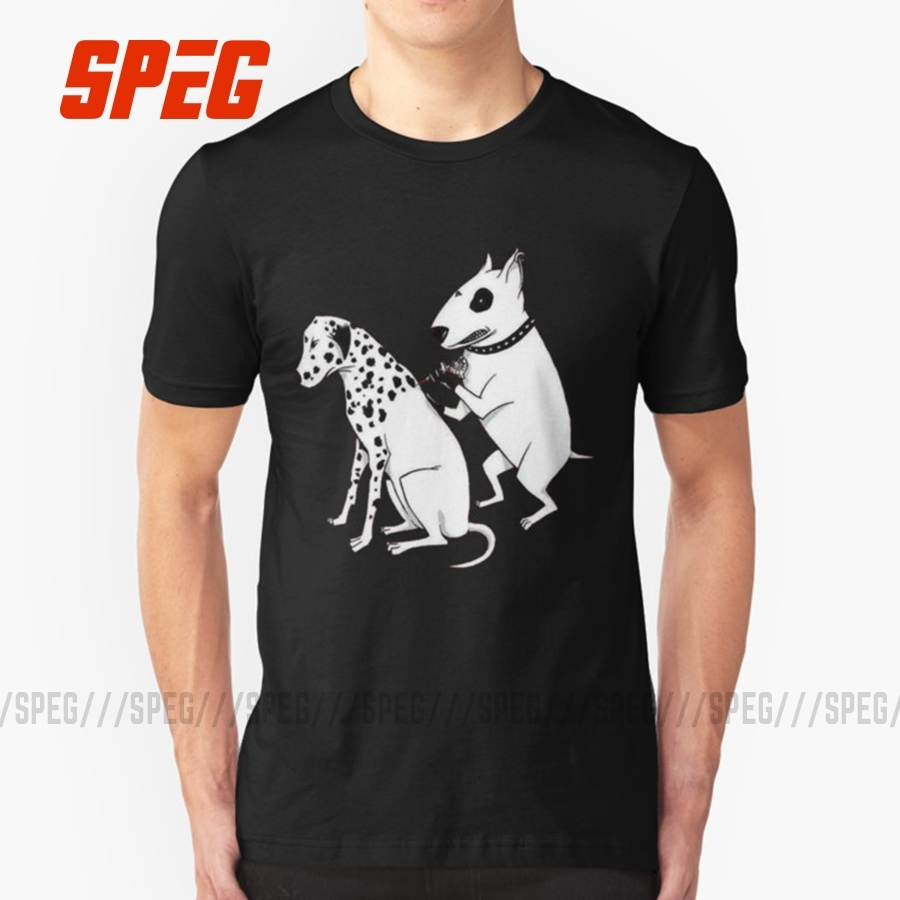 Men's Summer T-Shirts Short Sleeve Pittbul Tattooing Dalmatian Dog Doctor Funny Men's O Collar Short Sleeve Clothing T Shirt