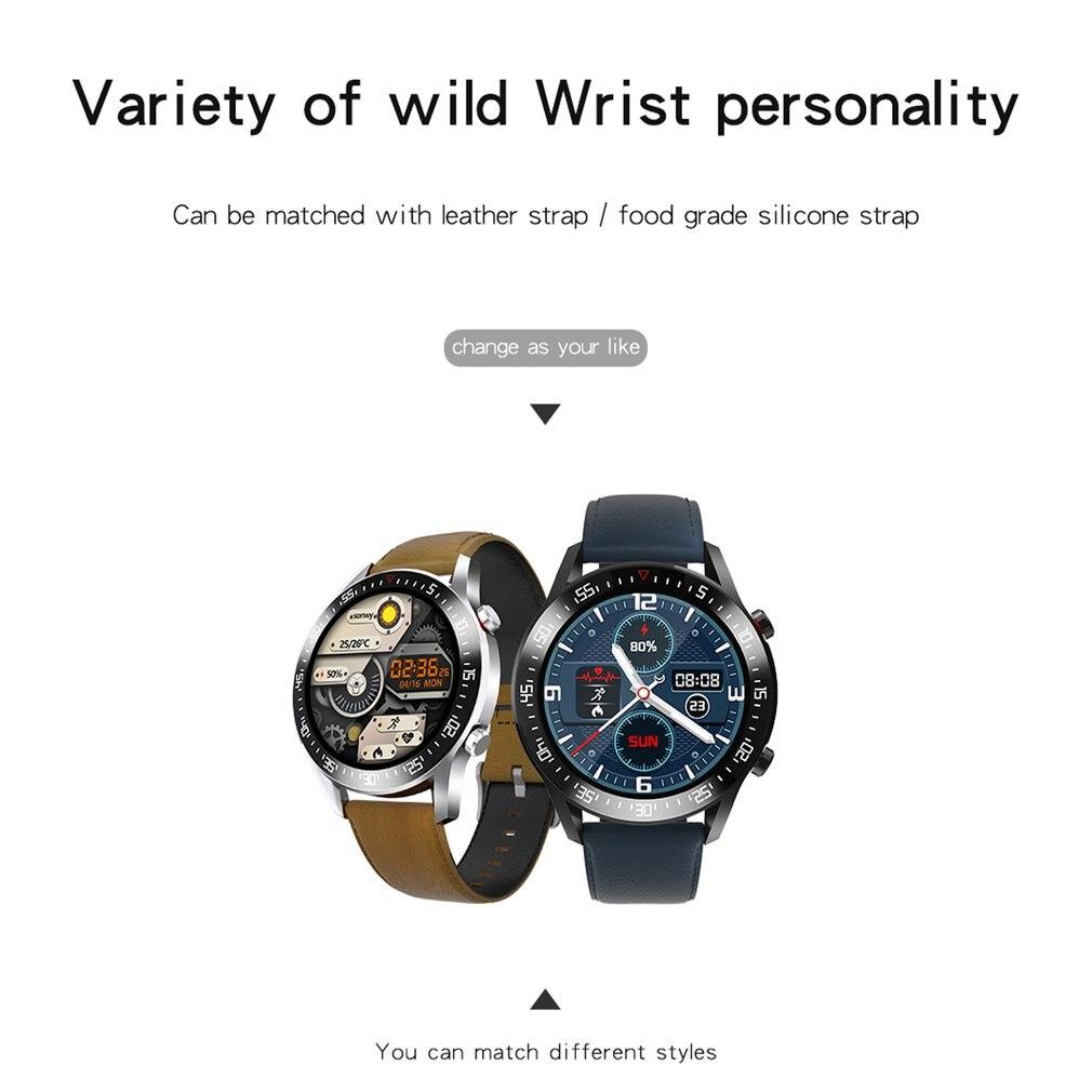 He6a1b7dfc40843398c281adead182b4bq C2 Smart Watch Round Dial Men Smartwatch Full Touch Screen Heart Rate Monitoring IP68 Waterproof Fitness Sports Watch