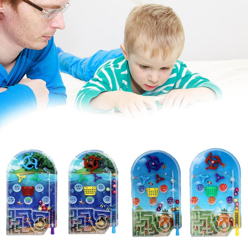 Cartoon Pinball Desktop Maze Game Mini Machine Child Kids Gift Peer Interaction Labyrinth Beads Ejection Puzzle Toy Random Color