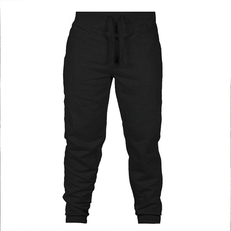 2019 New Style Men's Women's New Style Casual Trousers Solid Color Large Size Athletic Pants Universal Style Sweatpants